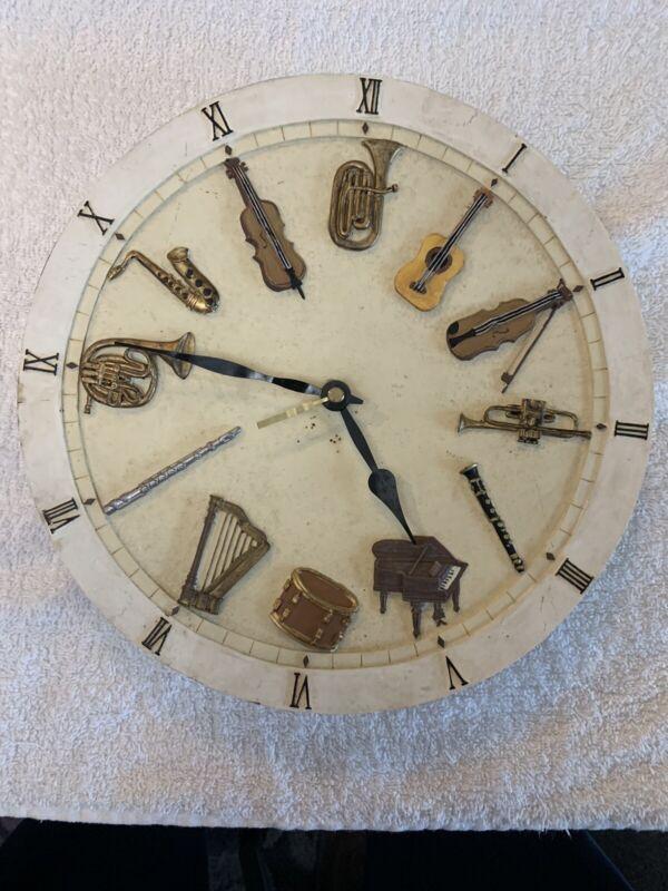 Musical Instrument Clock Hand Made