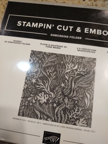 Stampin Up Seabed 3D Embossing Folder - New