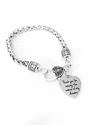 Mother Of The Bride  Charm Bracelet Thank You For Raising The Woman Wedding](Wedding Bracelets For Bride)