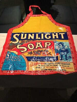 Sunlight Soap Apron Vintage Advertising Brilliant Colors Can Be Wiped Clean
