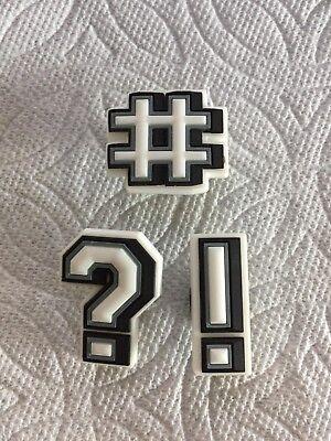 HASHTAG JIBBITZ EXCLAMATION MARK SHOE CHARM FITS CROCS QUESTION MARK JIBBITZ  - Exclamation Question Mark
