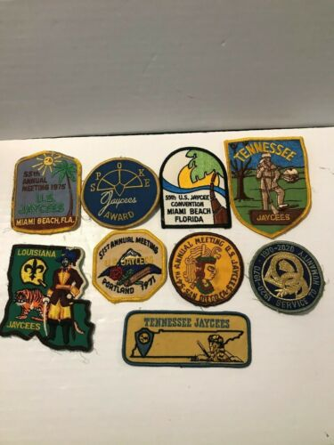 Vintage Lot of 9 US Jaycees Patches