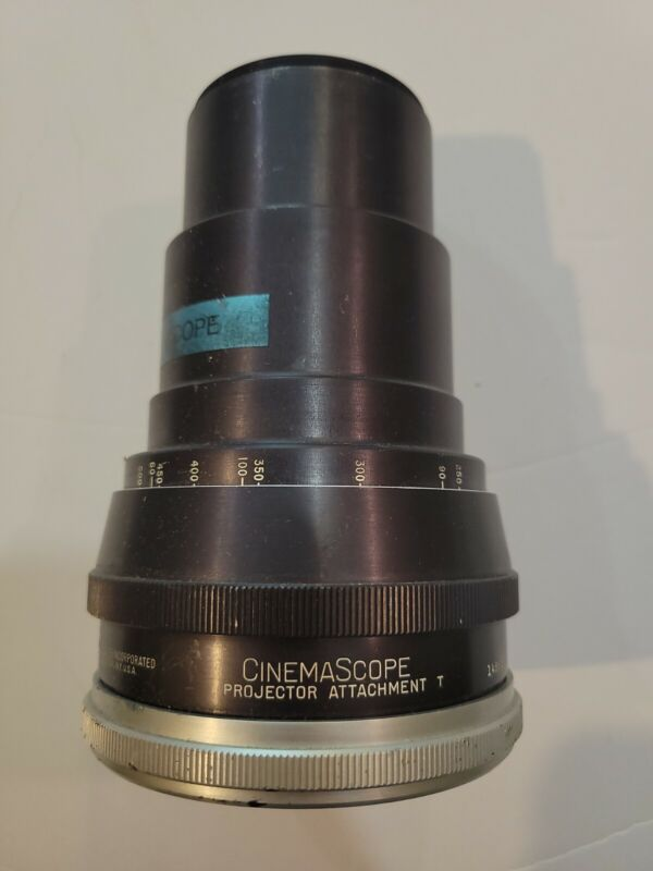 Cinemascope animorphic Lens for movie projector Bausch lomb T 1486sf