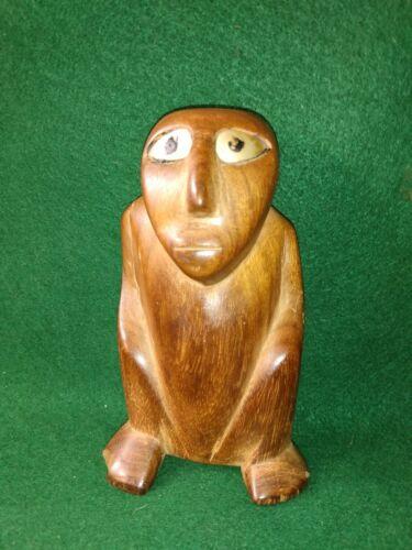 Antique Micronesia Caroline Islands Seated Ancestral Carved Wood Figure