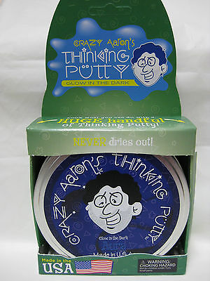 Aura Glow In The Dark Crazy Aarons Thinking Putty Large 4 Inch Tin 3 2Oz