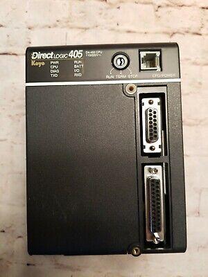 Koyo Direct Logic 405 Plc D4-450 Cpu 110220 Vac Used