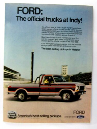"""1979 Ford Rangers INDY Pace Truck500  Original Print Ad 8.5 X 11"""""""