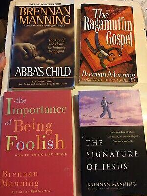 Brennan Manning Book Lot Set Ragamuffin Gospel Foolish Abba's Child Signature