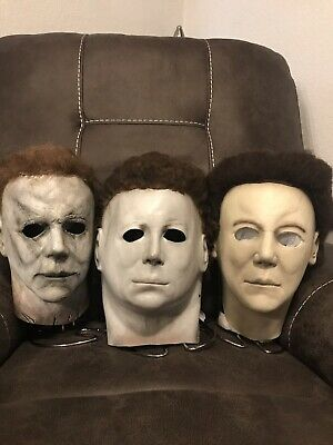Custom michael myers halloween mask lot Trick or Treat studios not NAG CGP - Halloween H20 Michael Myers Mask