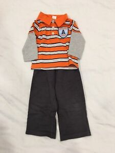 Carters Tshirt and cotton trousers. Size 12 months.