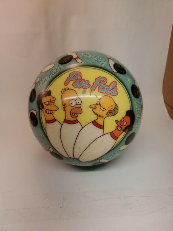 Vintage Simpsons pin pals bowling ball 15 lbs