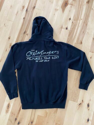 2017 The Chainsmokers Memories Do Not Open Tour Hoodie Hooded Sweatshirt Size L