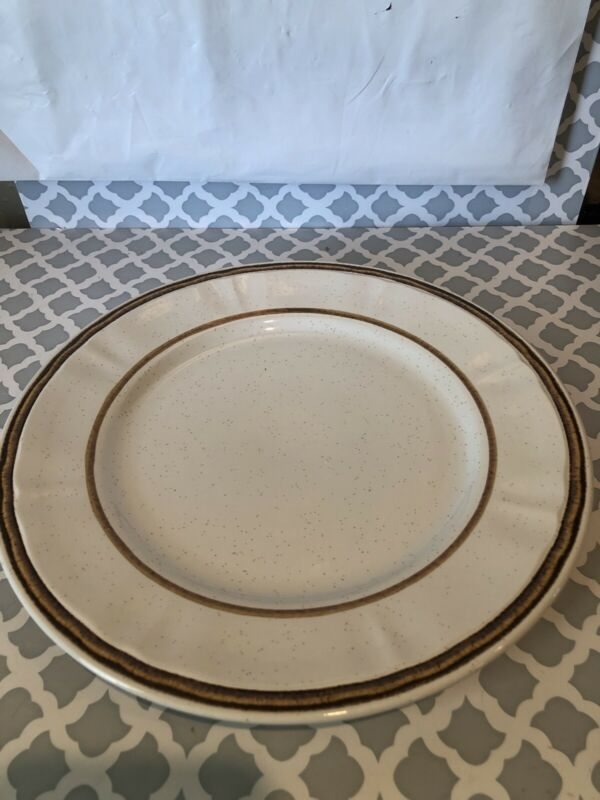 "Vintage Americana Hearthside Stoneware 10 1/4 "" Dinner Plate by Heritage ~ Japan"