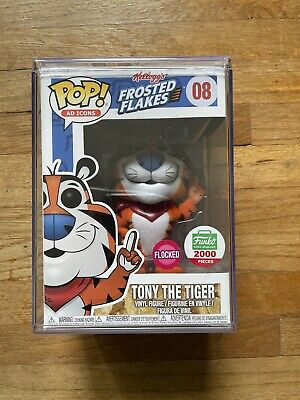Funko Pop Tony the Tiger Flocked Funko Shop Exclusive LE 2000 with Pop Stack