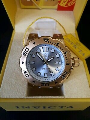 NEW Invicta Pro Diver Automatic Watch Mens White & Gold 50mm Wristwatch