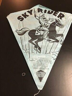 Kite Paper (Vintage Cloud Buster Sky Rider Paper Kite BLUE Lone Ranger Look)