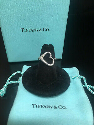 Tiffany & Co 925 Elsa peretti heart ring size 5.5, 4gr