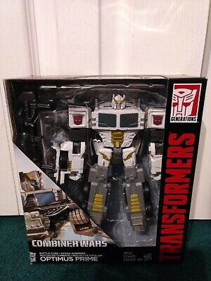 Optimus Prime WHITE CW Combiner Wars Transformers G1 Generations 2014 MISP!