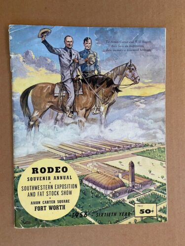 Vintage 1956 Rodeo Souvenir Annual Southwestern Exposition Fort Worth