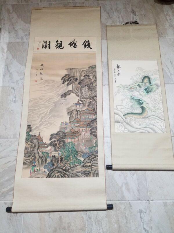 (2) Japanese hanging scroll