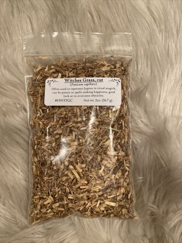 WITCHES GRASS CUT 2 oz (Hoodoo Pagan Witch Herbs Magick Spellwork)