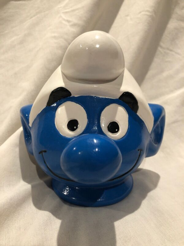 Vintage Smurf Piggy Bank
