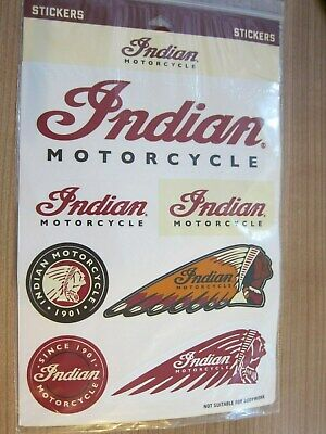 Indian Motorcycle Sticker ORIGINAL Set 2863865 Headress Logo - Indian Headress