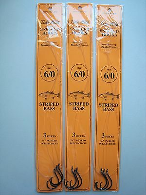 Danielson Snelled Gold Aberdeen Hooks New 6 Packages Size 4 36 Total Hooks