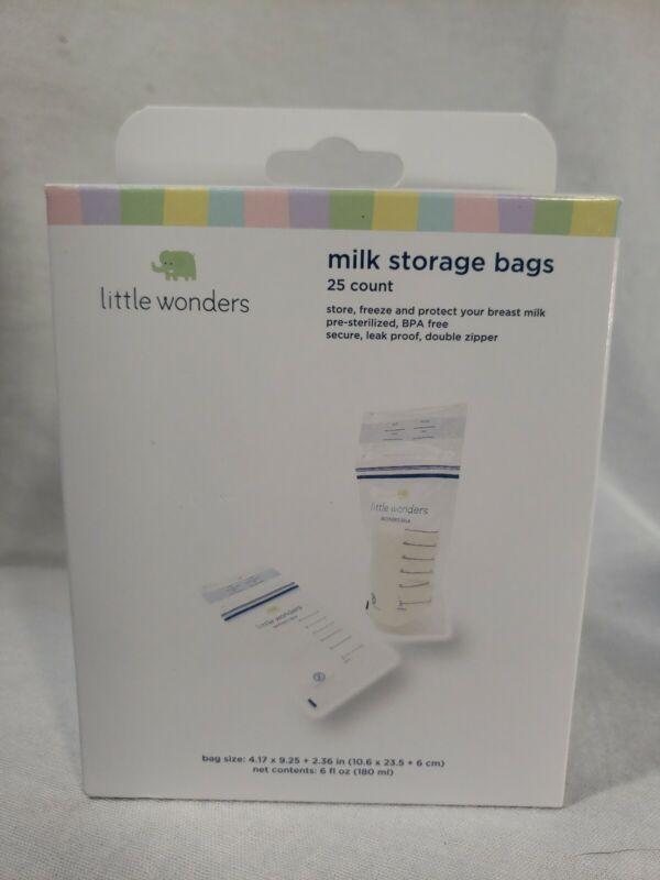 Little Wonders 25 Count Milk Storage Bags