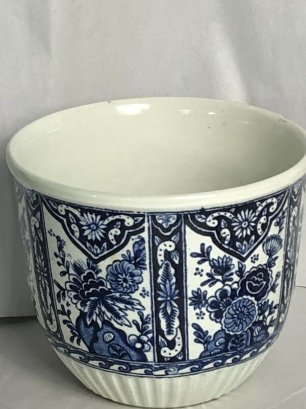 DELFTS BY BOTCH  BLUE WHITE PLANTER  M14  BELGIUM DELFT