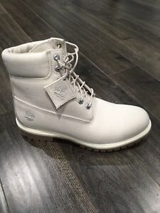WHITE Mens Timberland Boots