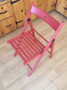 Red Folding chair - like new $15