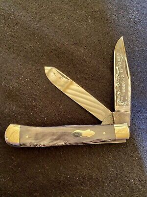 Fight'n Rooster Mountain Trapper Knife, Nice Collectible Never Carried !!