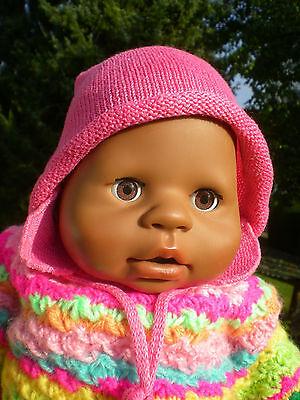 dunkle Zapf Puppe Talking Chou Chou 48 cm 2005+ viel Zubehör 2 Sprachen Poupée