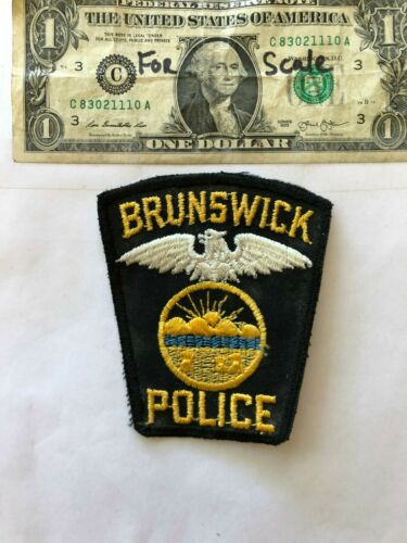 Brunswick Ohio Police Patch un-sewn in great shape