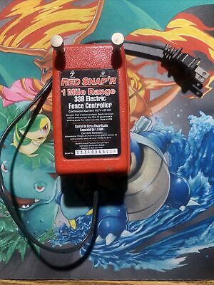 Electric Fence Controller 1mile Red Snapr Solid State 110v 60hz Wire