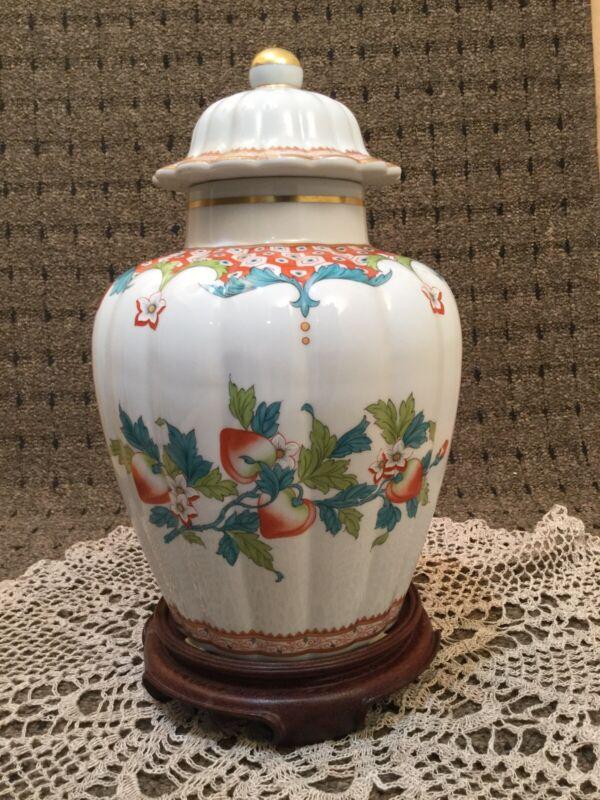 """Vista Alegre Porcelain Large Hand Painted Ginger Jar 11""""tall"""