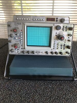Tektronix 465b 2 Channel 100mhz Dual Trace Time Base Storage Oscilloscope As Is