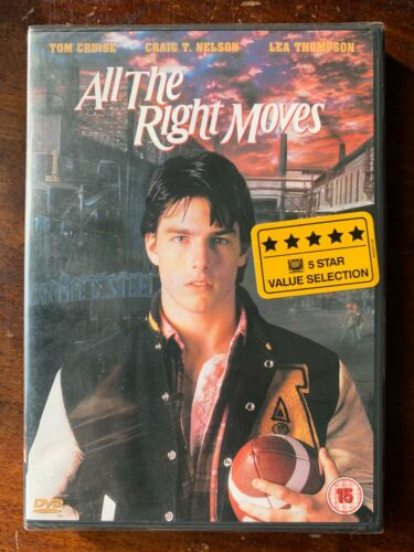 All+the+Right+Moves+DVD+1983+American+Football+Teen+Movie+Drama+w%2F+Tom+Cruise