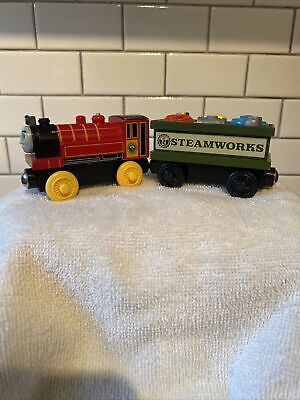 Thomas & Friends Wooden Railway VICTOR & SPARE PARTS CAR Train Engine Steamworks