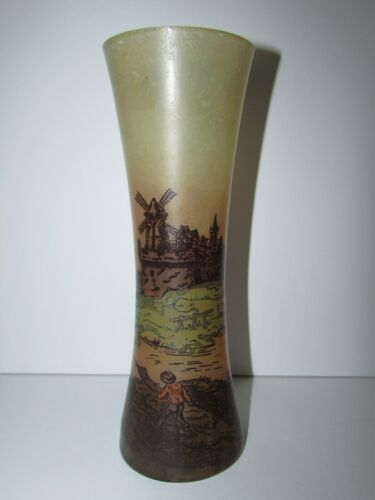 Antique Signed Legras Painted Art Glass Vase 804