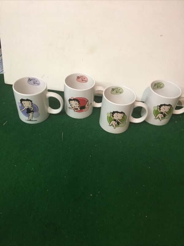 Set of 4 - Betty Boop Coffee Cups 3E Trading, LLC 2008