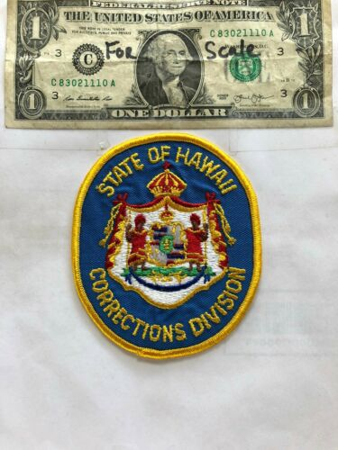 State of Hawaii Corrections Division Police Patch Un-sewn great shape