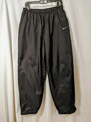 NIKE MEN'S VINTAGE 2001 BLACK NYLON PANTS