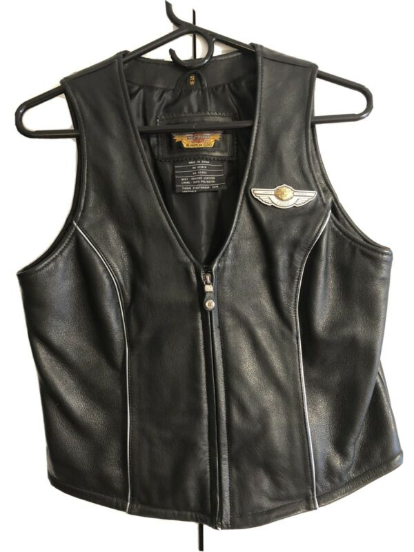Harley Davidson 100th Anniversary Womens Leather Vest Size Small