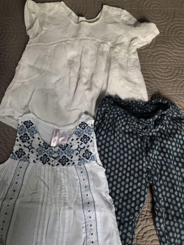 Lot Of 3 - Girls 4t Ralph Lauren Lounge Pants 1 Old Navy 1 Shirt