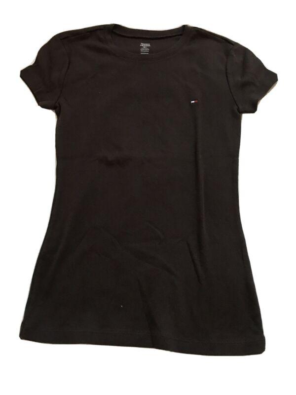 Tommy Hilfiger T-shirt Round Neck Brown Size Xs