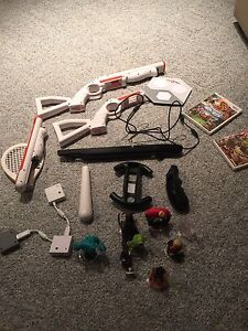Wii console + huge number of games + rockband