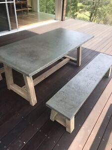 Concrete Dining Set x 1700x900mm