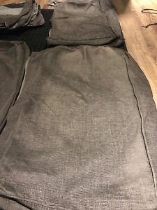 IKEA Kivik Tullinge Grey Brown Sofa and Ottoman Cover